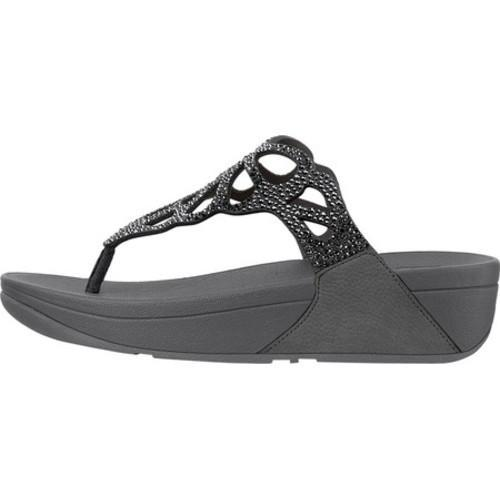 14f7e9a1395f ... Thumbnail Women  x27 s FitFlop Bumble Wedge Thong Sandal Pewter Leather Microfiber   ...