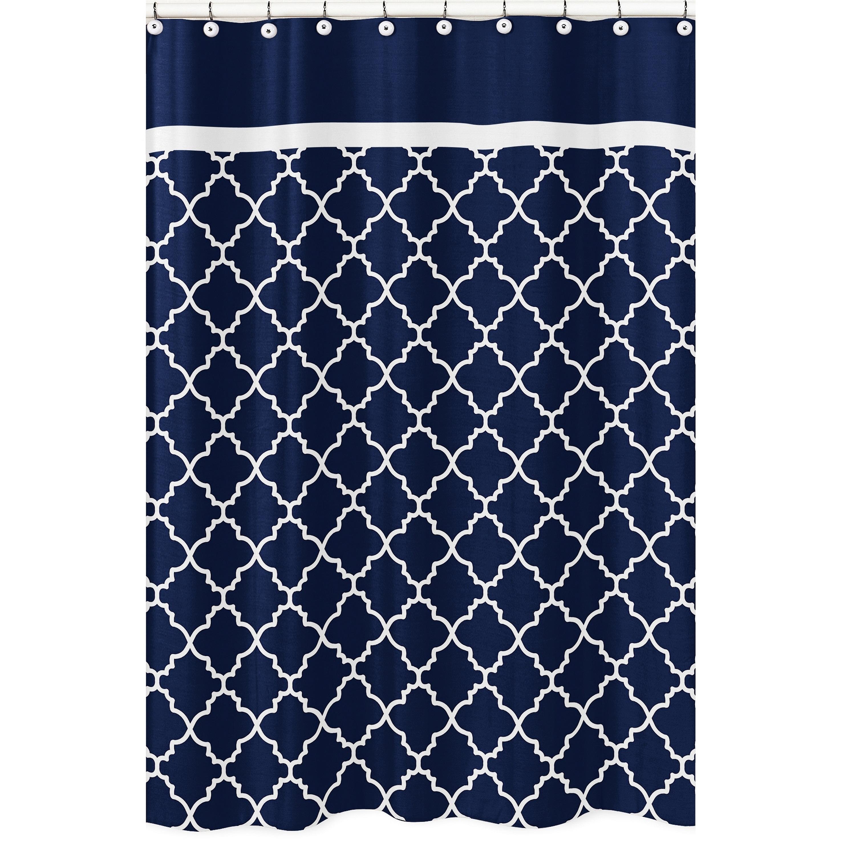 Sweet Jojo Designs Navy Blue and White Modern Trellis Lattice ...
