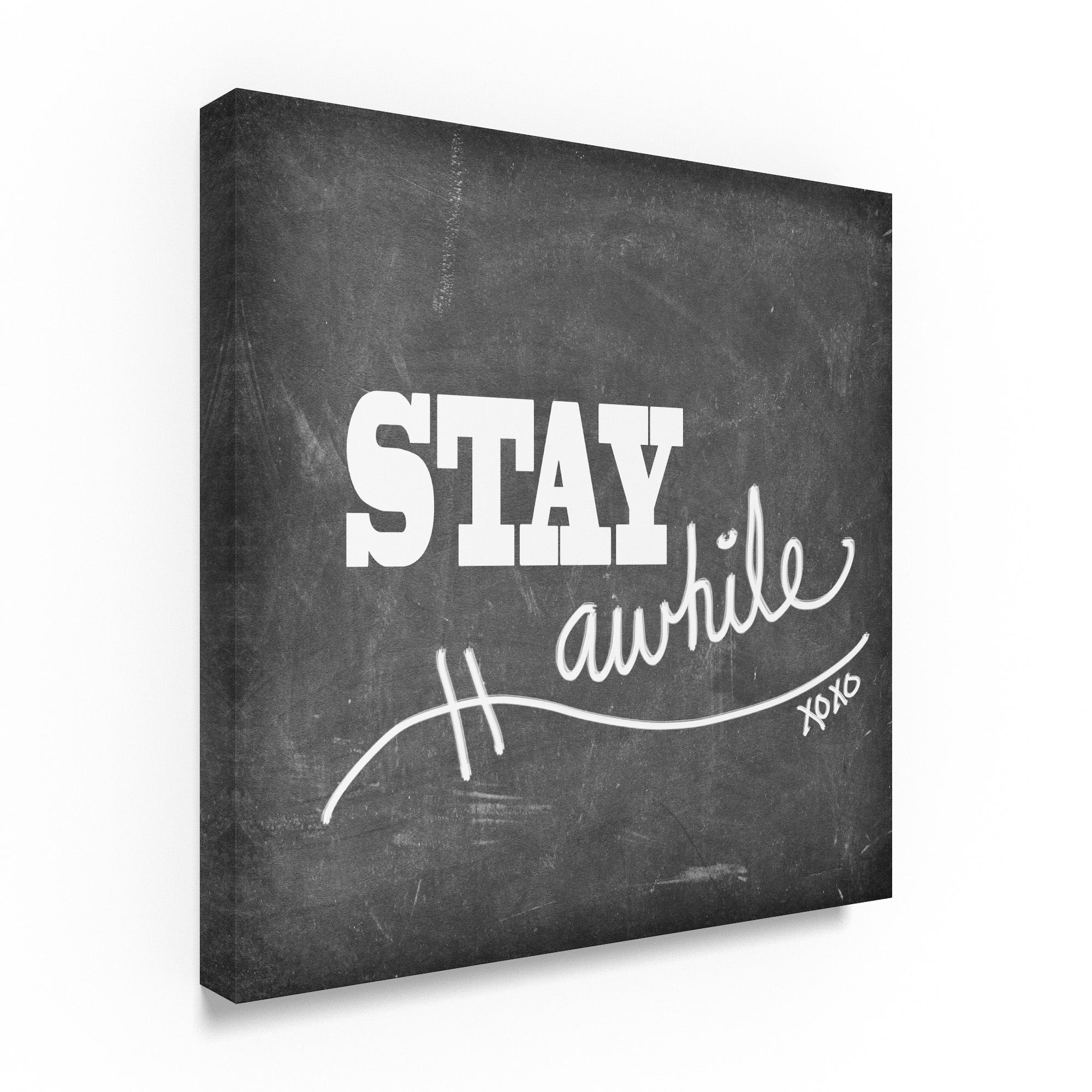Lightboxjournal 'Mudroom Stay Awhile' Canvas Art