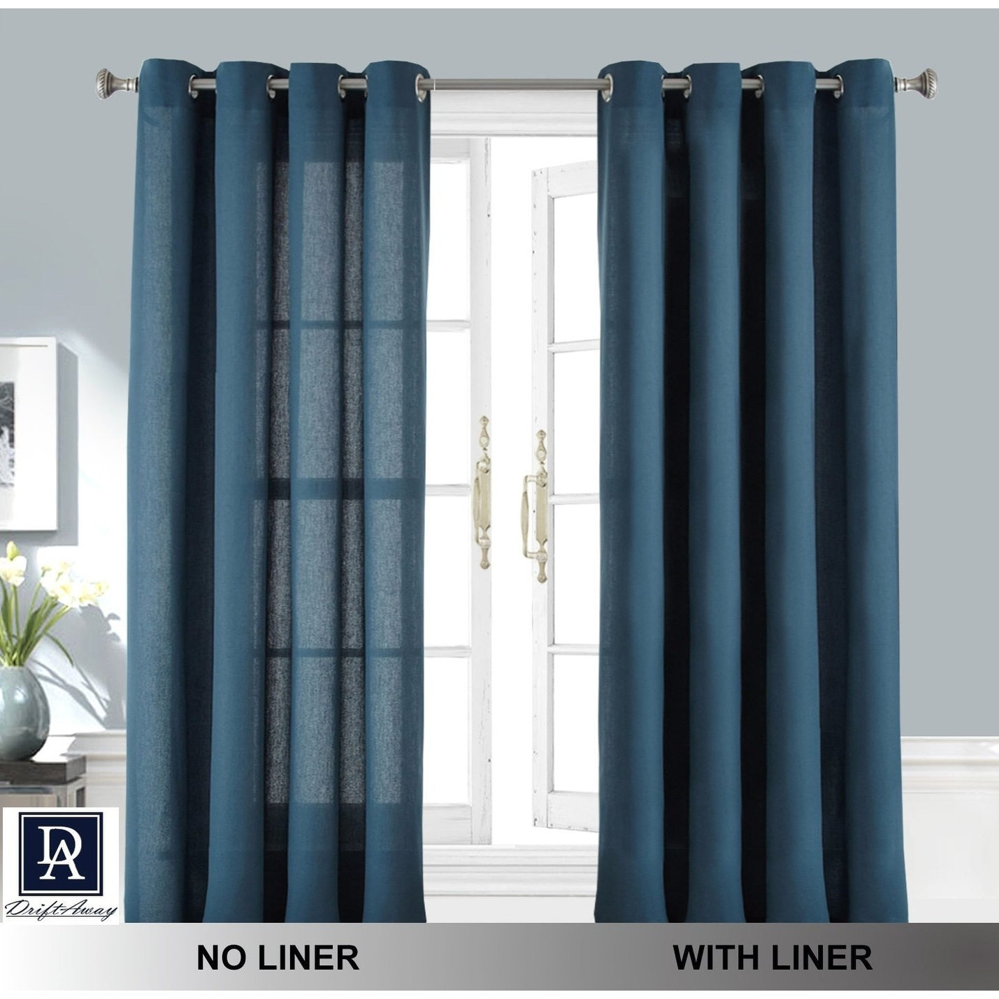shipping orders on panel overstock home drape garden drapes blackout pocket rod over of liner free pair set product curtain aurora