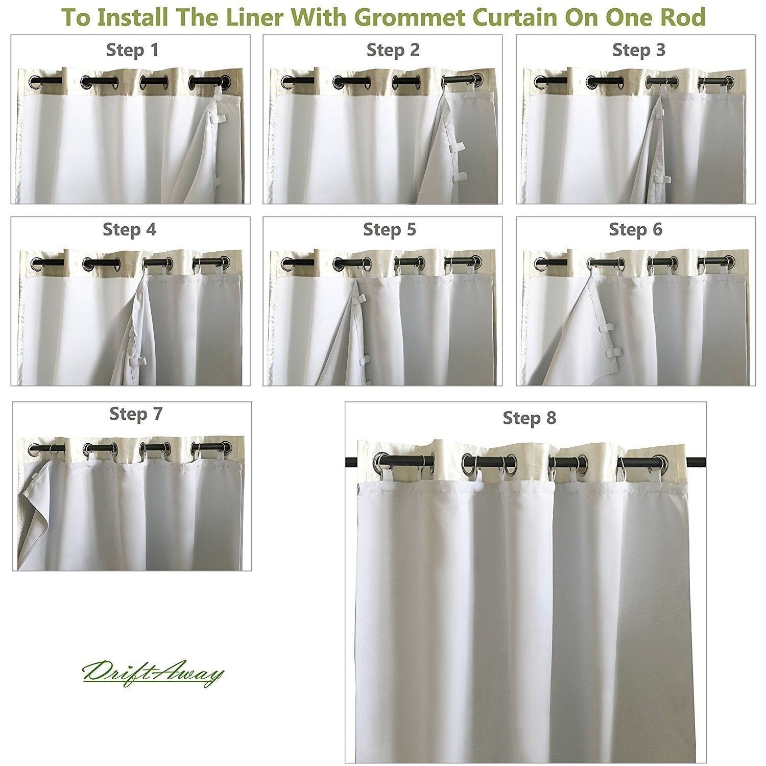 Shop DriftAway Insulated Blackout Curtain Liner For Grommet Curtains