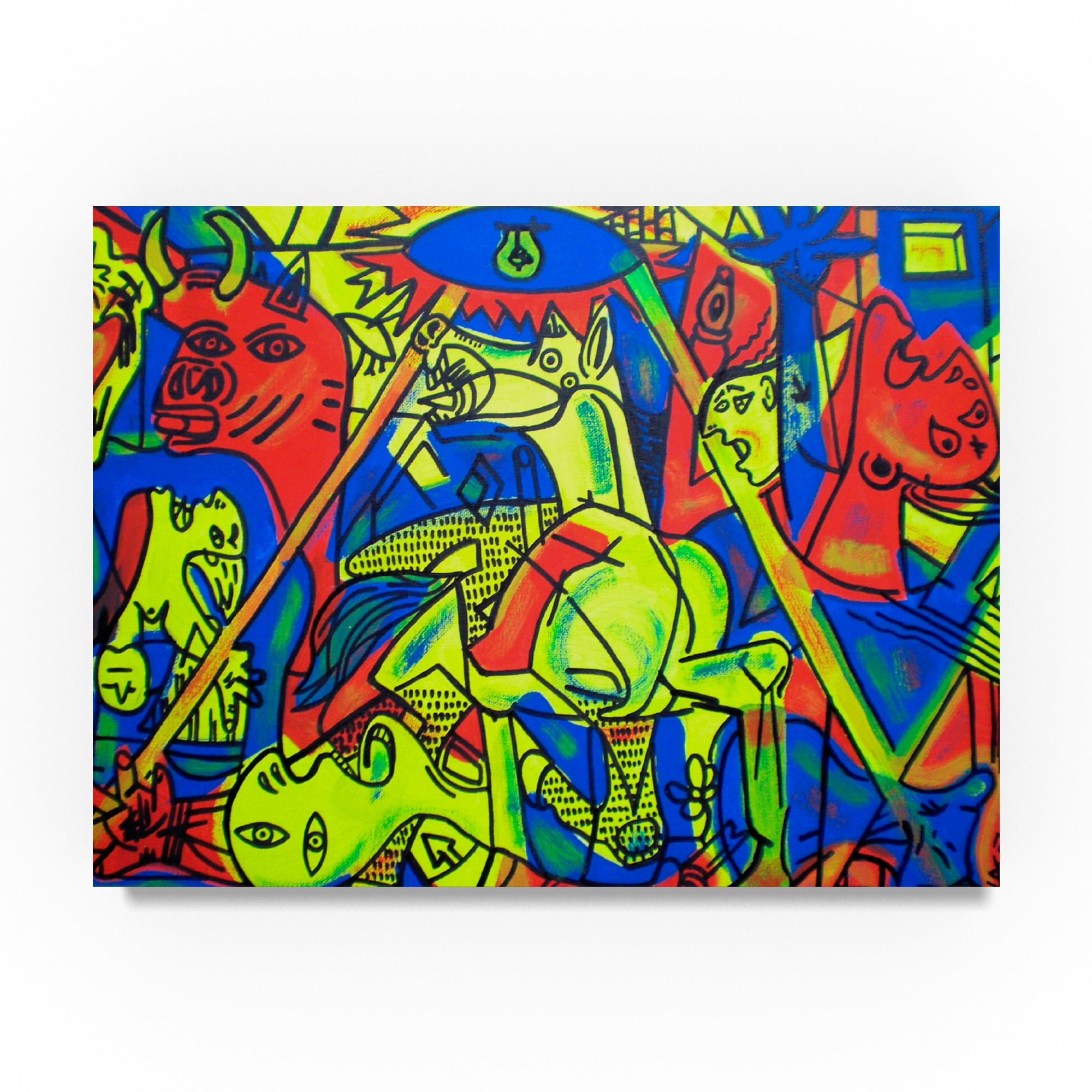 Shop abstract graffiti guernica canvas art free shipping today overstock 19207790