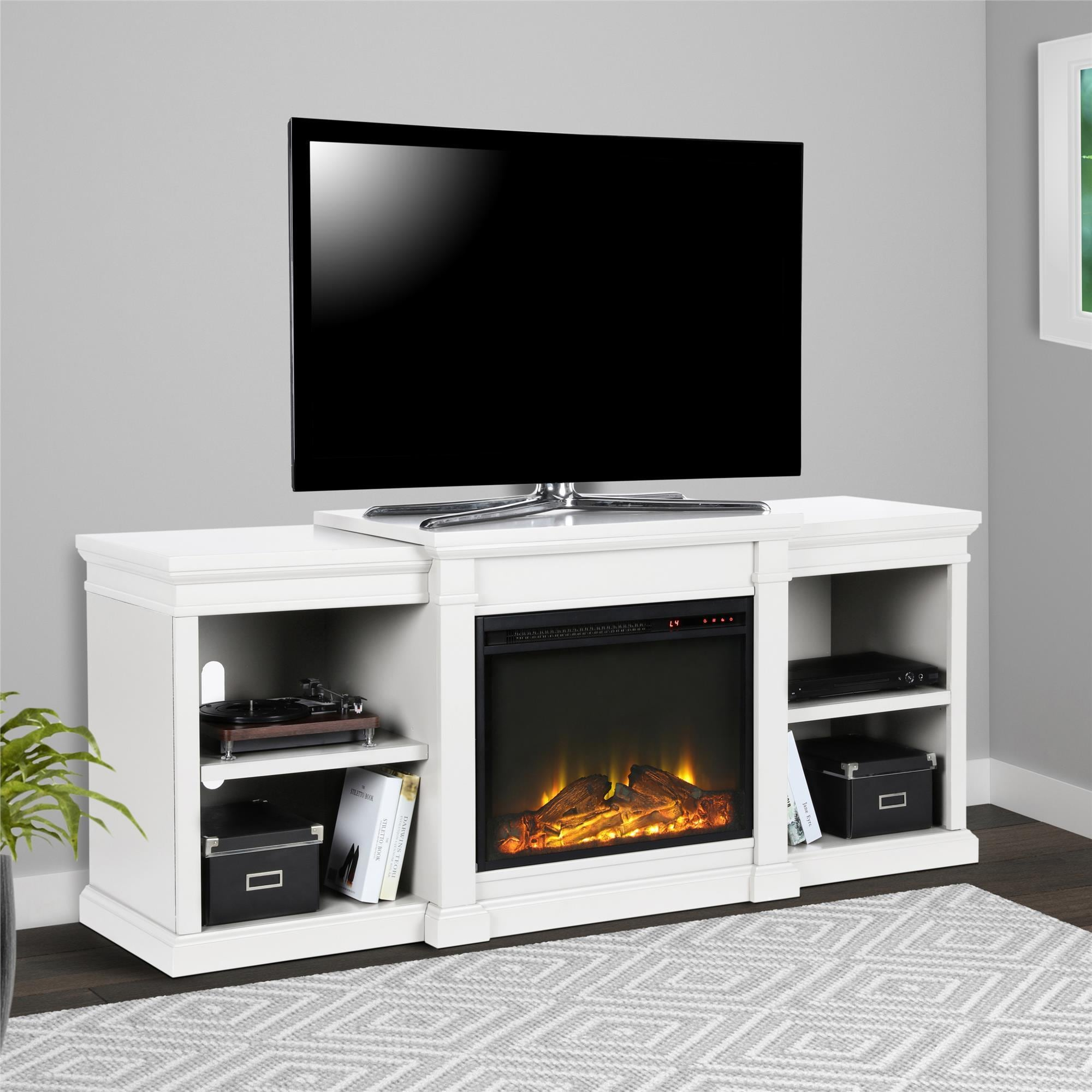 Shop Avenue Greene Anderson Electric Fireplace Tv Stand For Tvs Up