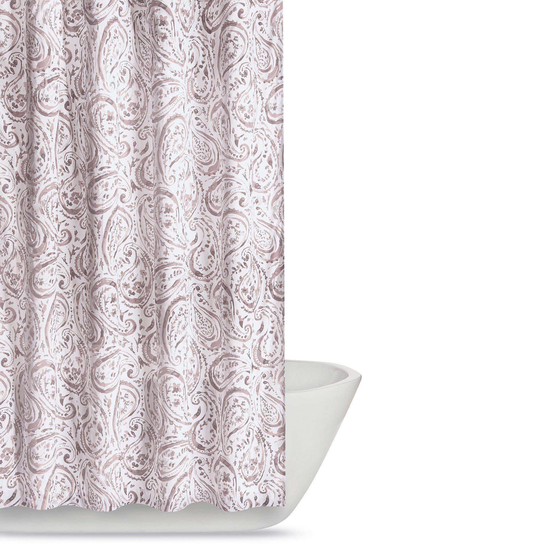 Shop Truly Soft Watercolor Paisley Printed Shower Curtain