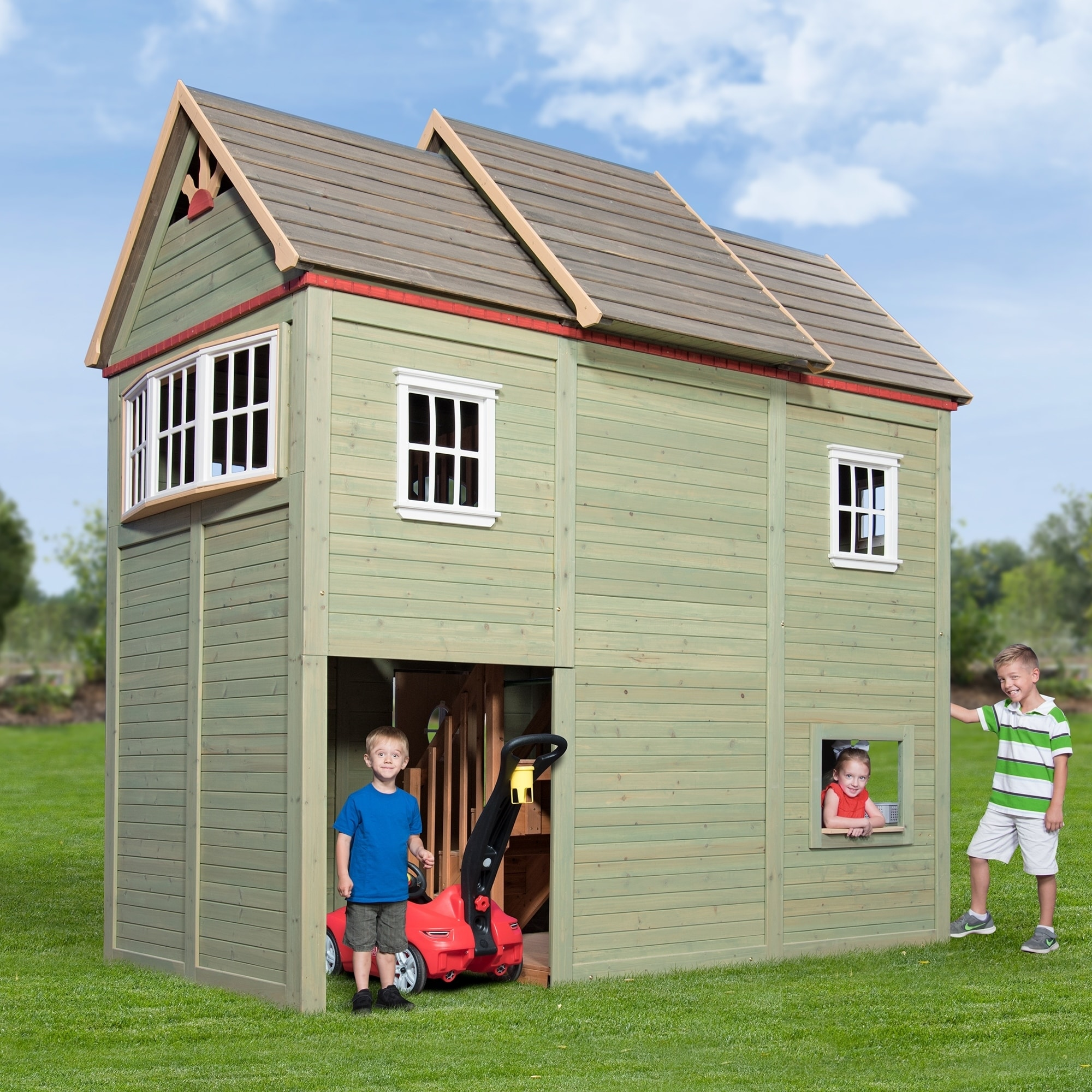 Genial Backyard Discovery Victorian Mansion Playhouse   Free Shipping Today    Overstock.com   25237191