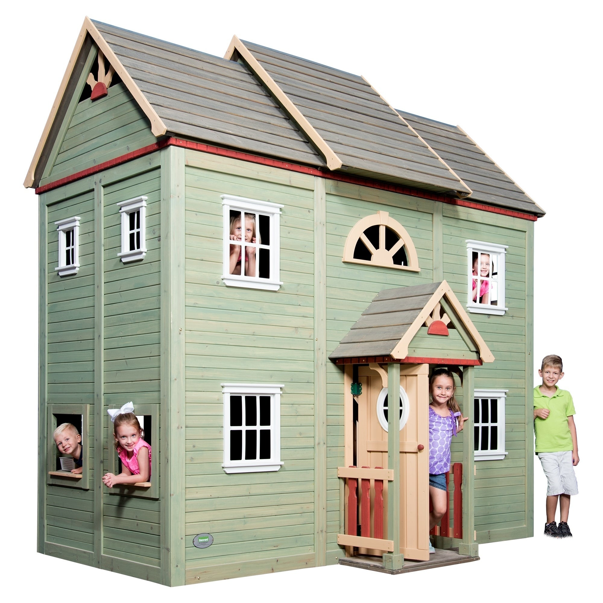 Backyard Discovery Victorian Mansion Playhouse   Free Shipping Today    Overstock   25237191