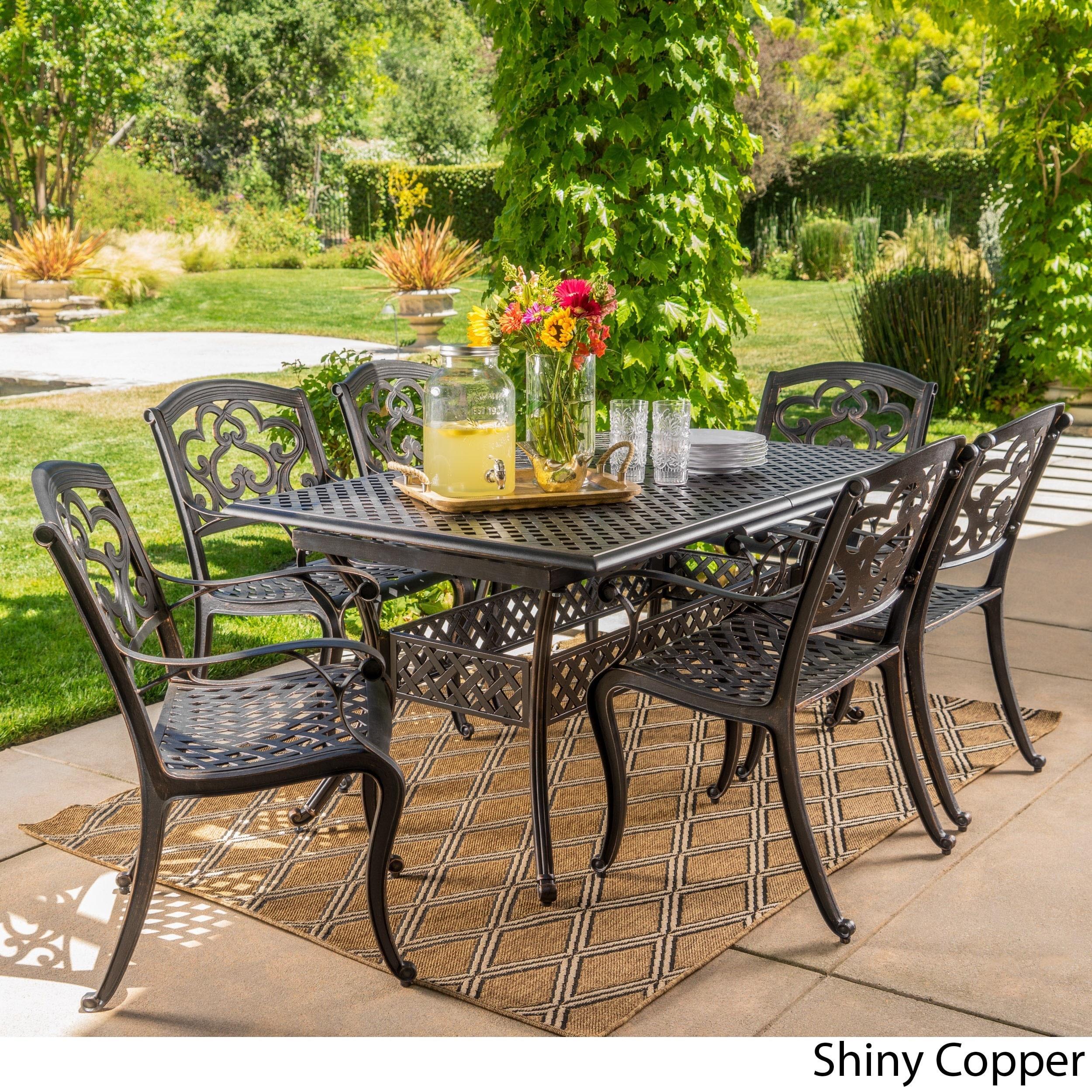 Shop Abigal Outdoor Multi-piece Shiny Copper Finish Cast Aluminum ...