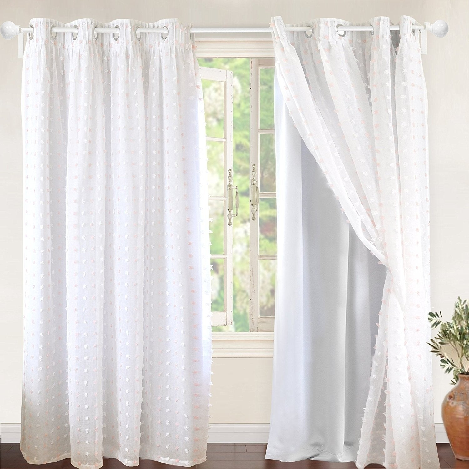 Driftaway Lily White Voile Sheer Blackout Curtain Liner Single Panel 52 W X 84 L Free Shipping On Orders Over 45 19215831