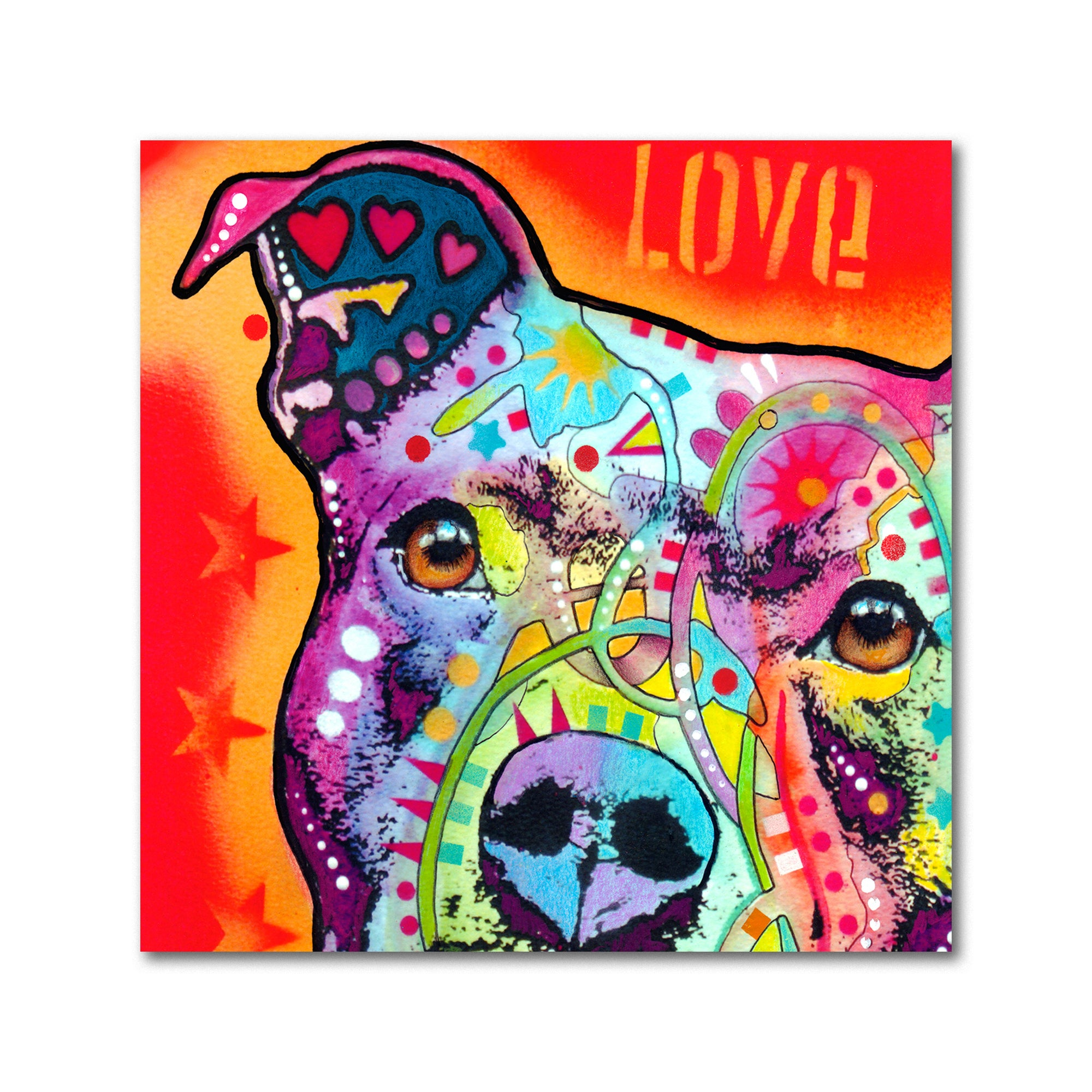 Shop Dean Russo \'Thoughtful Pitbull\' Metal Art - On Sale - Free ...
