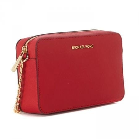 7f88c8004418 MICHAEL Michael Kors Jet Set Travel Medium East West Crossbody Burnt Red.  Click to Zoom