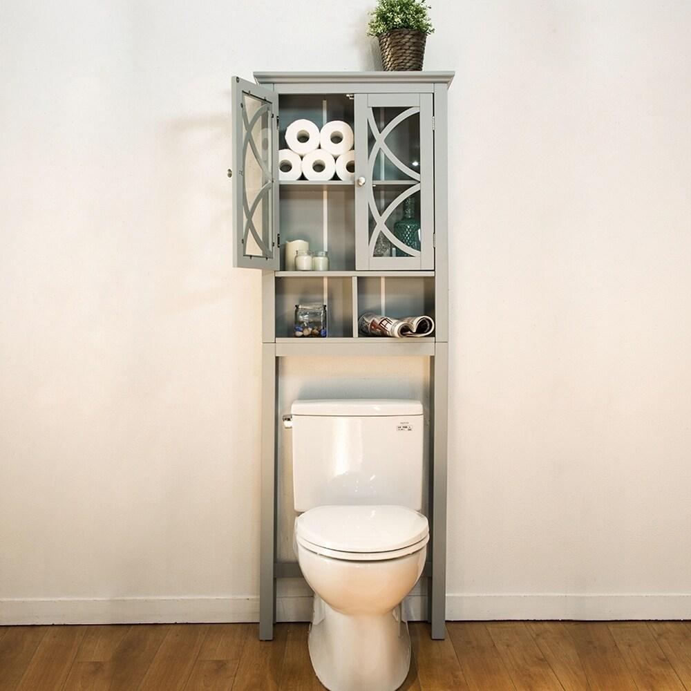 Glitzhome Bathroom Cabinet Spacesaver, Gray - N/A - Free Shipping ...