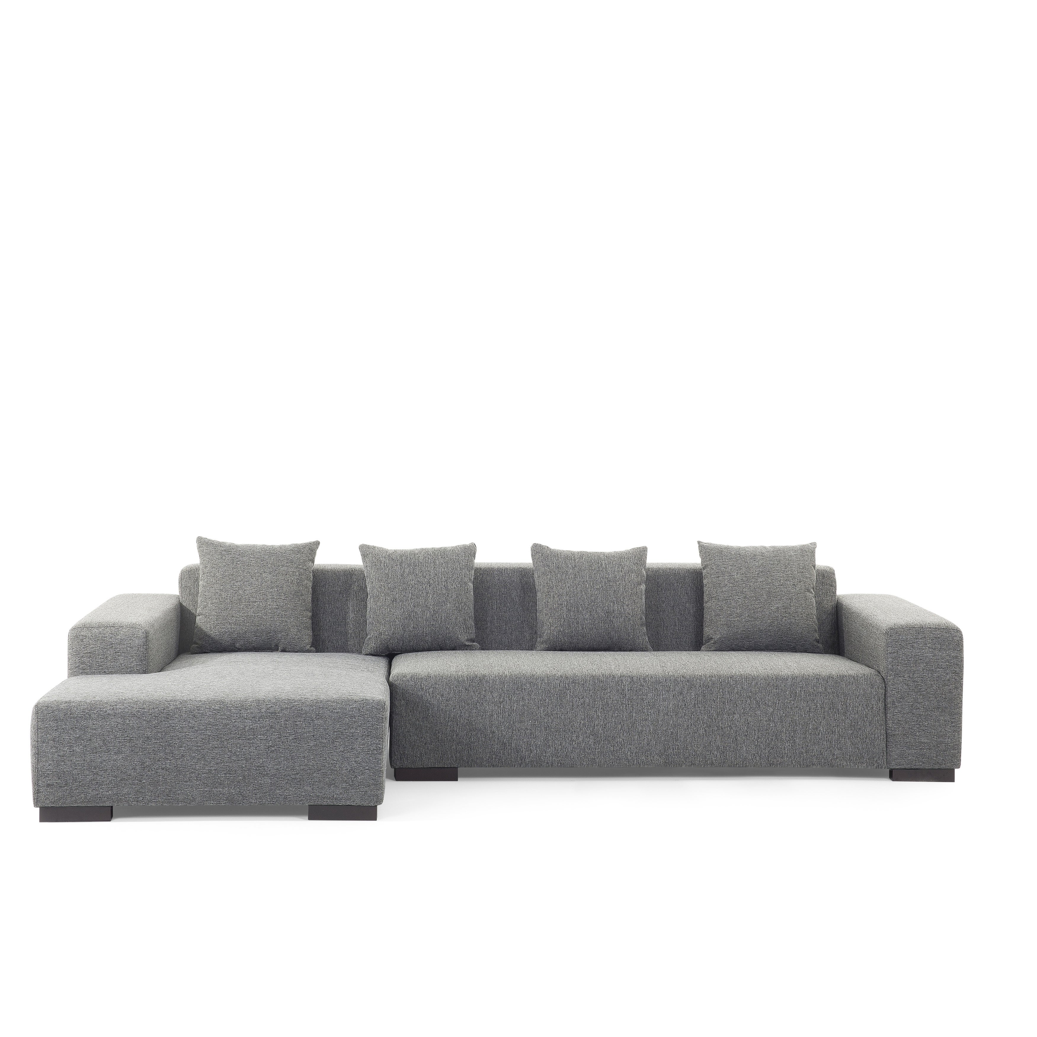 today r home shipping couch product sectional sofa fabric dark overstock lungo modern gray garden free