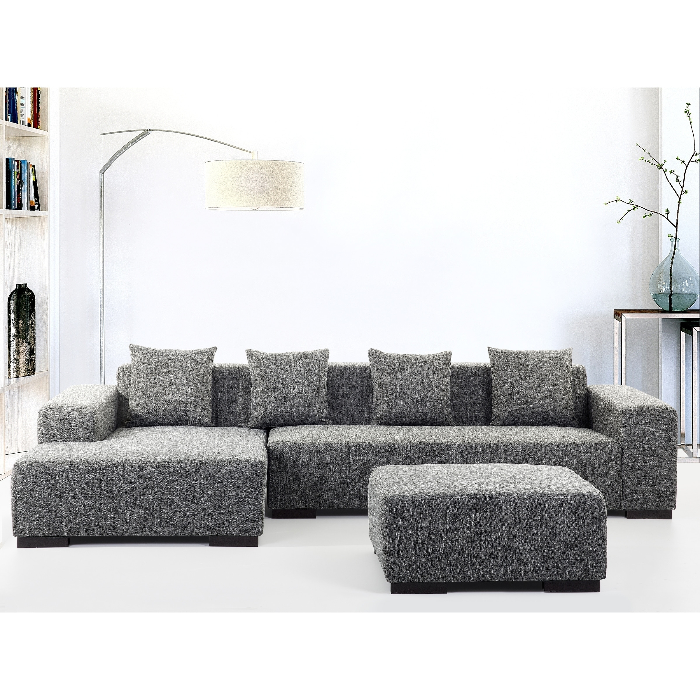radius classic product fabric silver chesterfield sectional cococohome cannes gray corner x sage