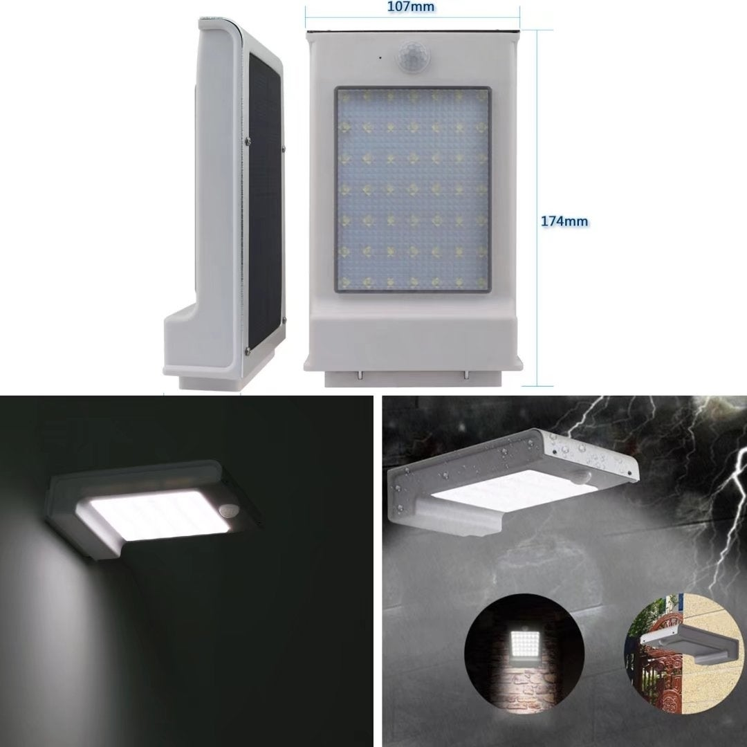 Shop 49 Led Solar Power Sensor Wall Light Outdoor Garden Lamp Powered With Waterproof On Sale Free Shipping Today 19220474