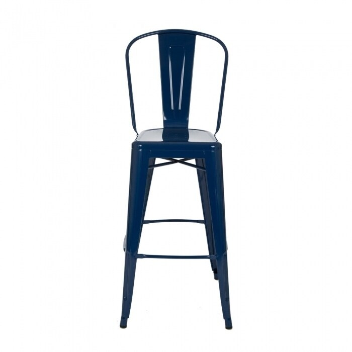 Glitzhome Navy Blue Metal Bar Stool(Set Of 2)   Free Shipping Today    Overstock.com   25246197