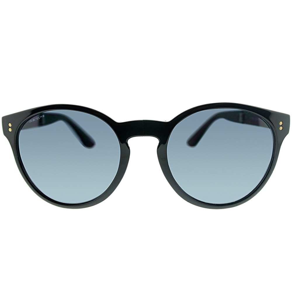 2ef18c27e3 Shop Burberry Round BE 4221 3595K4 Unisex Black Frame Blue Gradient  Polarized Lens Sunglasses - Free Shipping Today - Overstock - 19221387