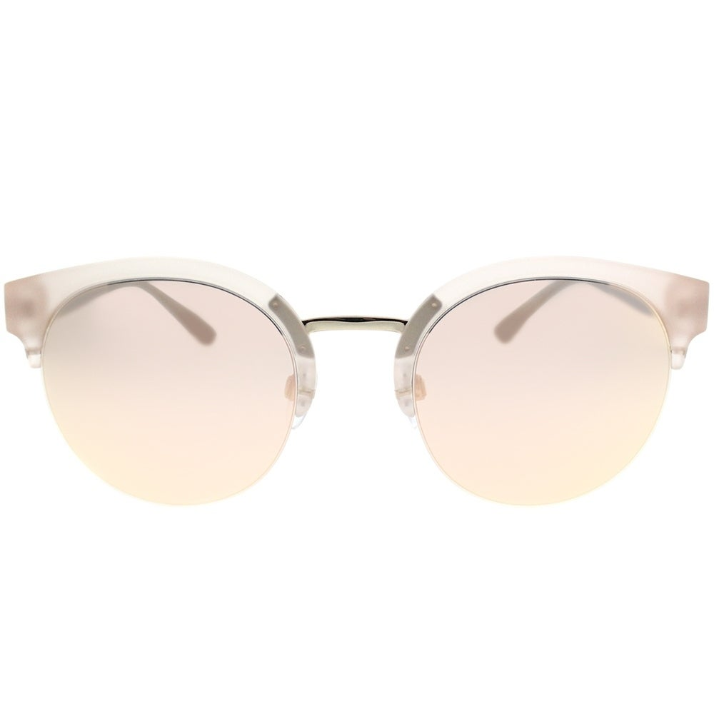 bf34519324e0 Shop Burberry Round BE 4241 36427J Womens Matte Pink Gold Frame Rose Gold  Mirror Lens Sunglasses - Free Shipping Today - Overstock - 19221391