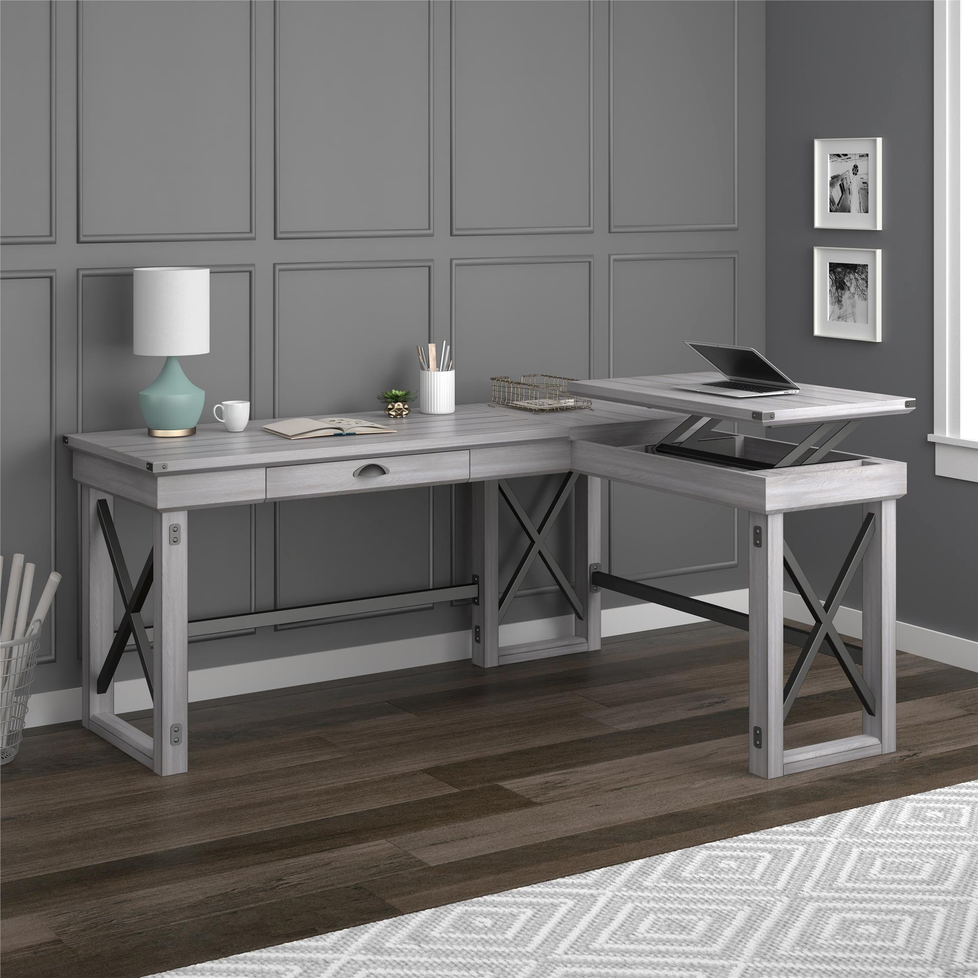 Avenue Greene Woodgate L Shaped Desk With Lift Top On Free Shipping Today 19222089