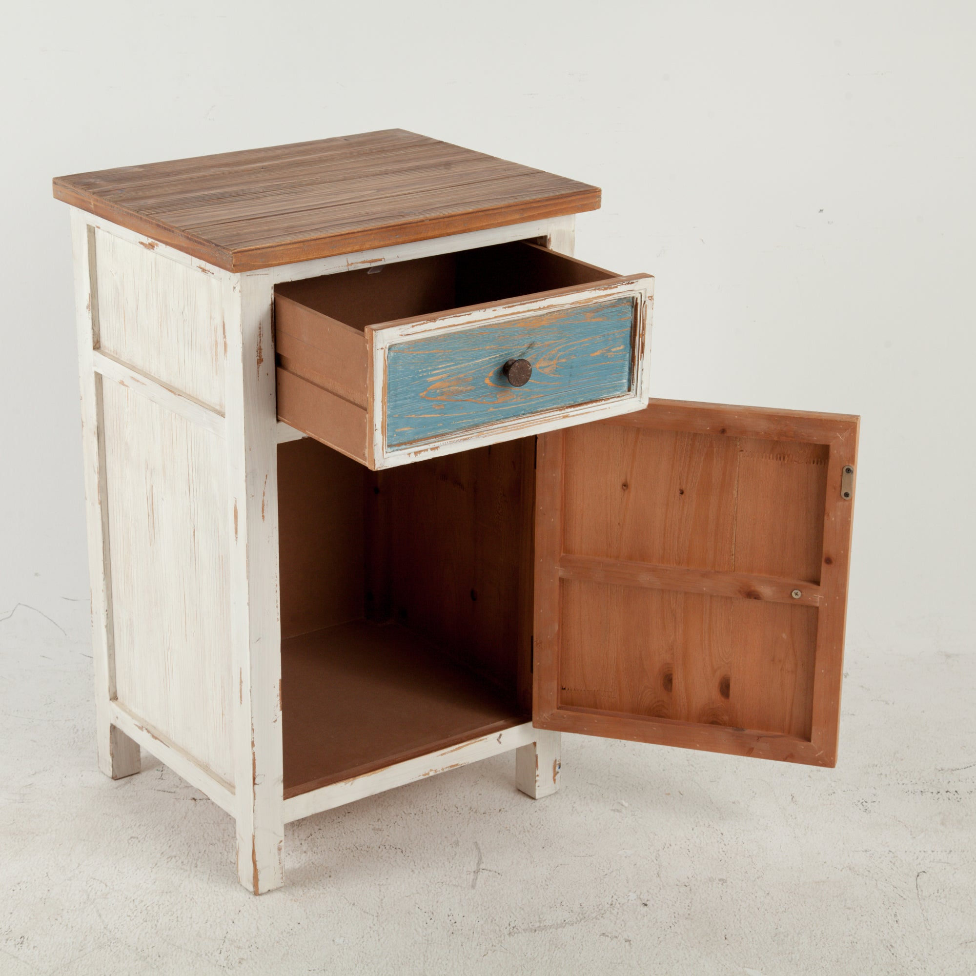 Bon Shop Multicolor Wood Small Rustic Console Cabinet   On Sale   Free Shipping  Today   Overstock.com   19224117