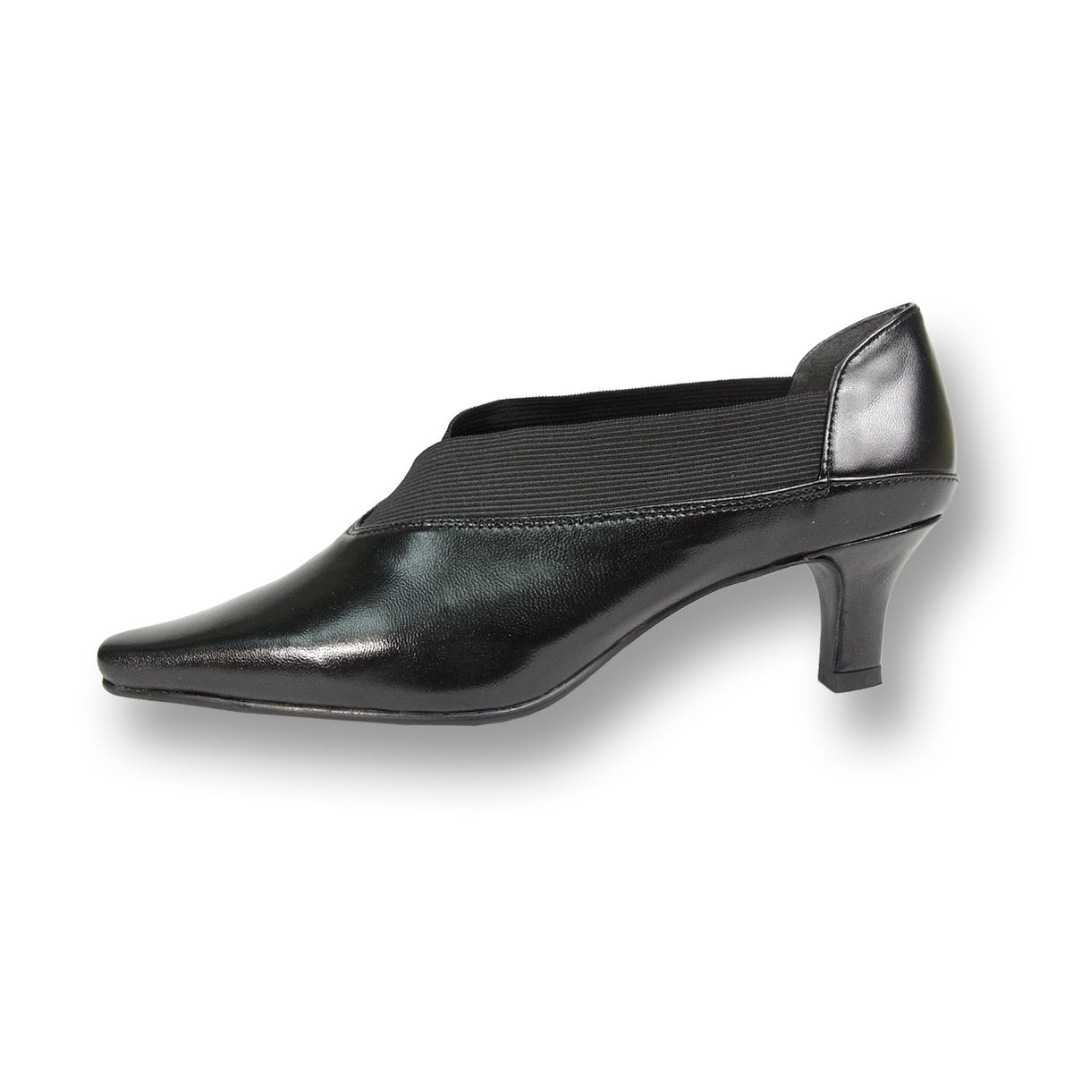 95d1df2c1d3f Shop PEERAGE Rita Women Extra Wide Width Slip-On Leather Pumps with Elastic  - Free Shipping On Orders Over  45 - Overstock - 19224612
