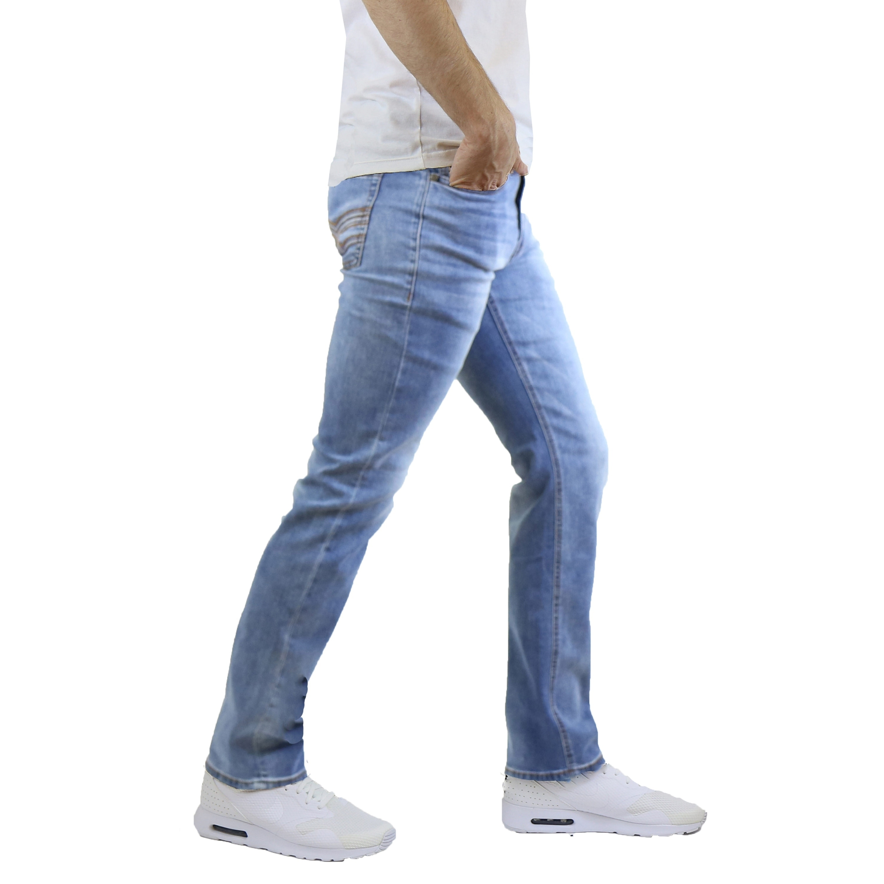 24f0dd0566 Shop Native Jeans Men s Washed Slim Fit Stretched Jeans Straight Leg - On  Sale - Free Shipping On Orders Over  45 - Overstock - 19225929