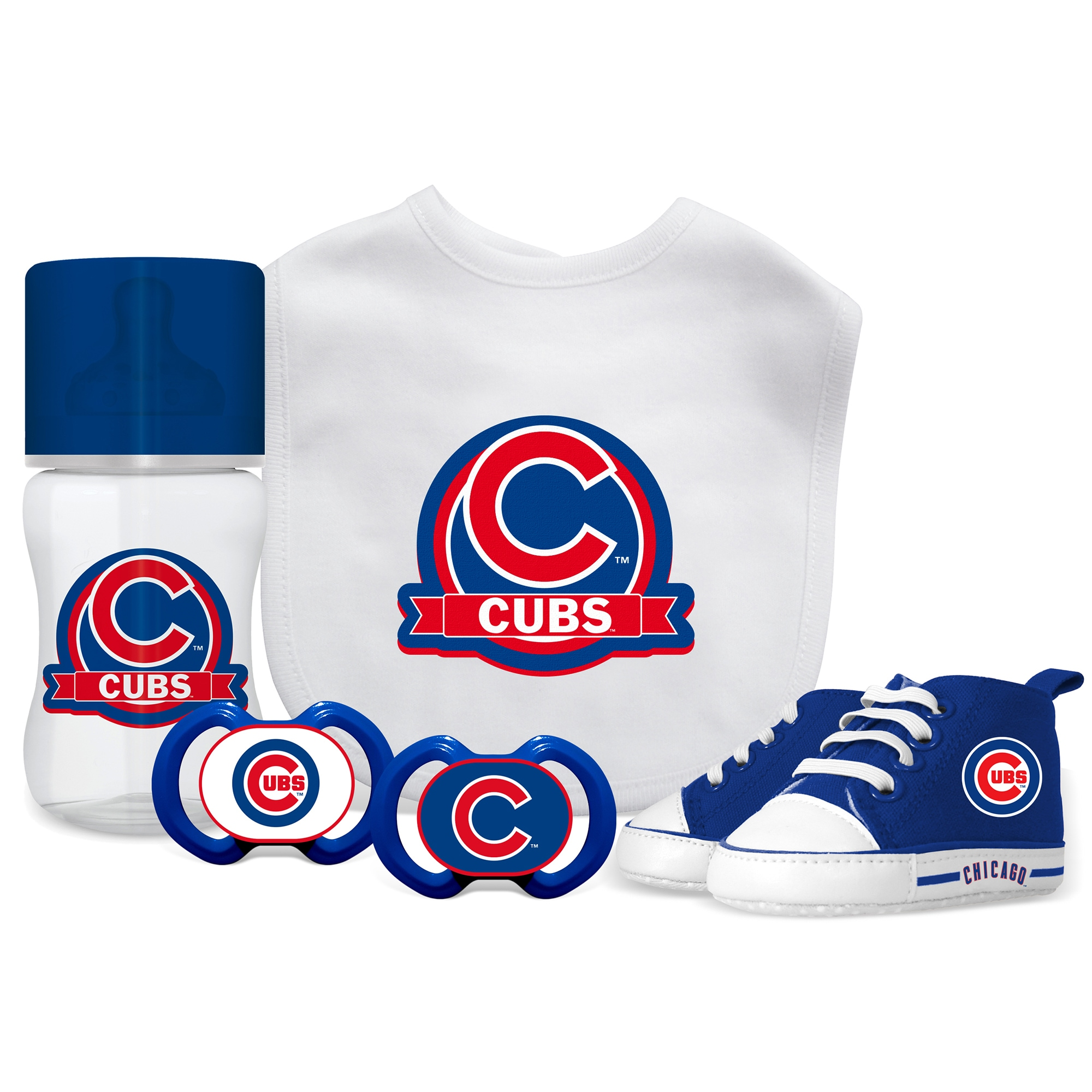 Chicago Cubs MLB 5 Pc Infant Gift Set Free Shipping Orders Over