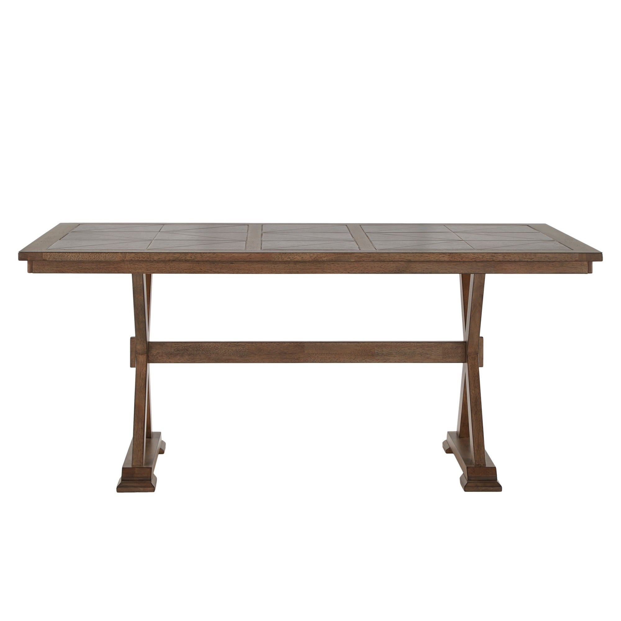 Pennington Grey Wood Rectangular Tile Top Trestle Dining Table by iNSPIRE Q  Artisan - Free Shipping