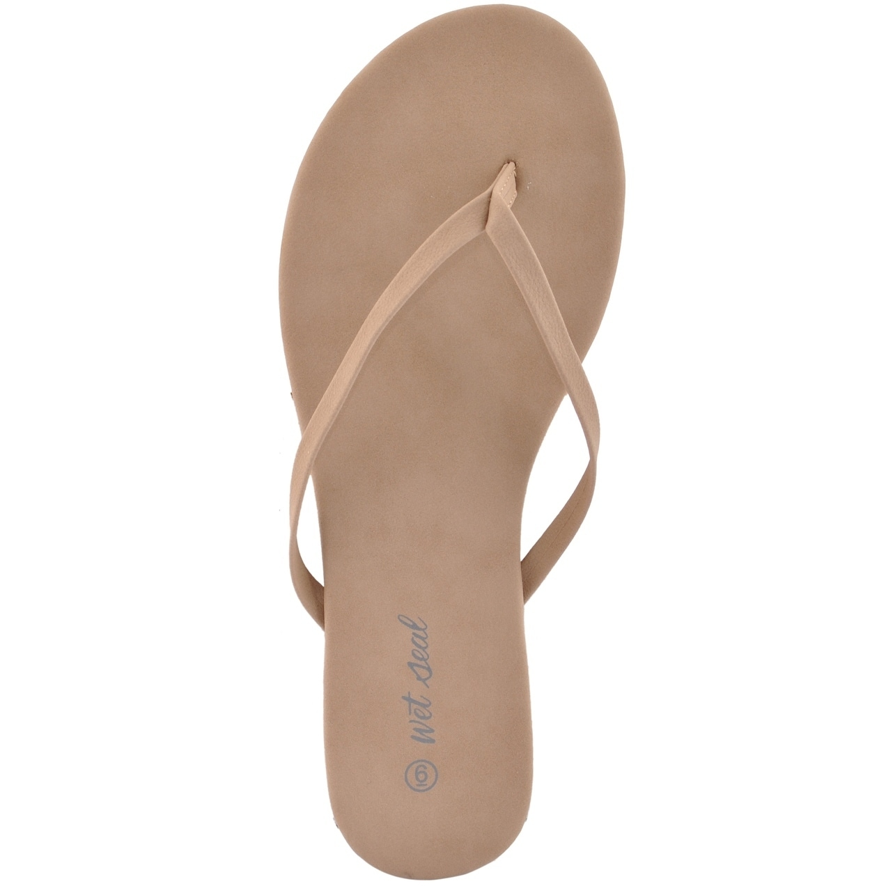 9264e88f1f2915 Shop Women Faux Leather Flip Flops Taupe Thong Sandals - On Sale - Free  Shipping On Orders Over  45 - Overstock - 19268091
