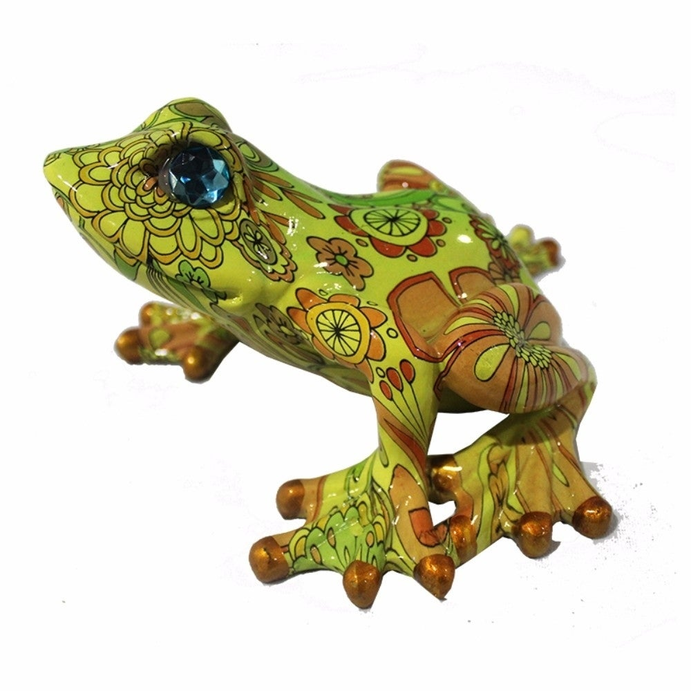 Shop Eye-Catching Polyresin Frog Decor, Green - On Sale - Free ...