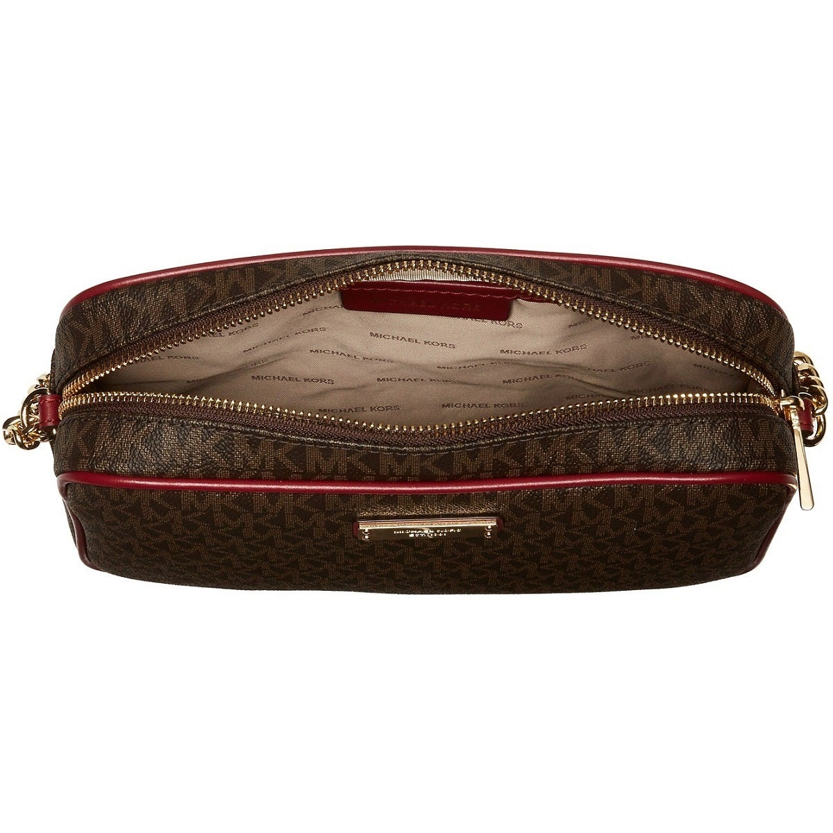 0fc0b44d5c Shop Michael Kors Signature Jet Set Large East West Brown Mulberry  Crossbody Bag - Ships To Canada - Overstock - 19295561