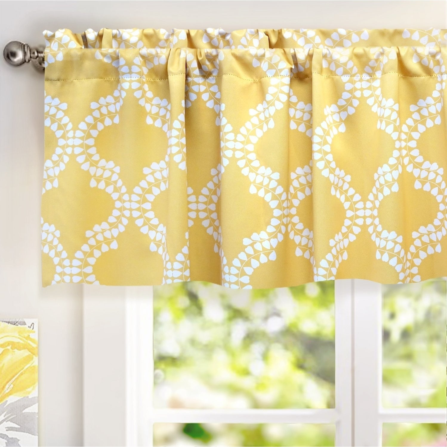 and curtain yellow gray curtains small decofurnish window ring valance top kitchen with
