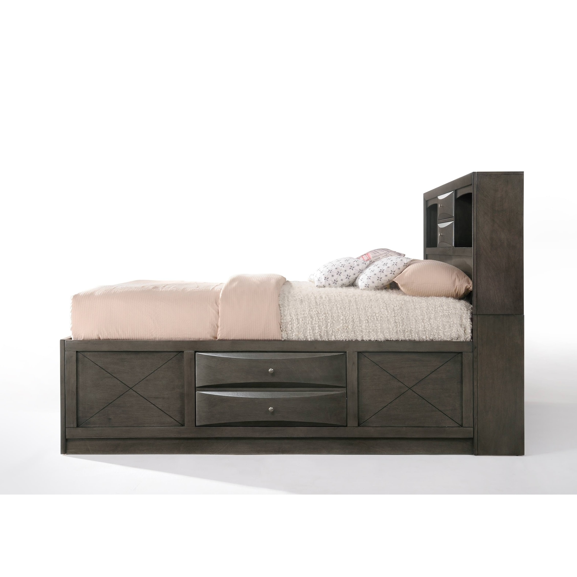 8c7cbd17581f Shop ACME Ireland Storage Eastern King Bed in Gray Oak - Free Shipping  Today - Overstock - 19297419