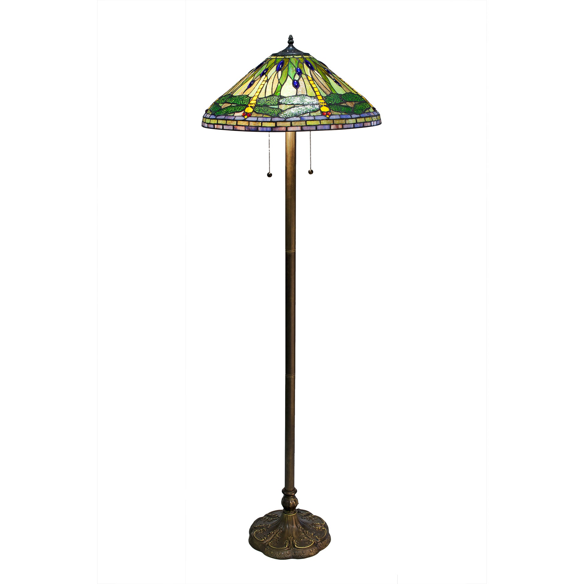 Tiffany style Green Dragonfly Floor Lamp Free Shipping Today
