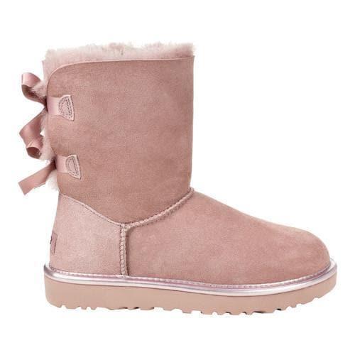 shop women s ugg bailey bow ii boot dusk metallic ships to canada rh overstock ca