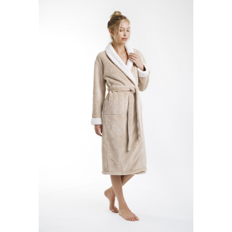 5e034b6d77 Shop Keila Sherpa Bath Robe - Free Shipping Today - Overstock - 19311416