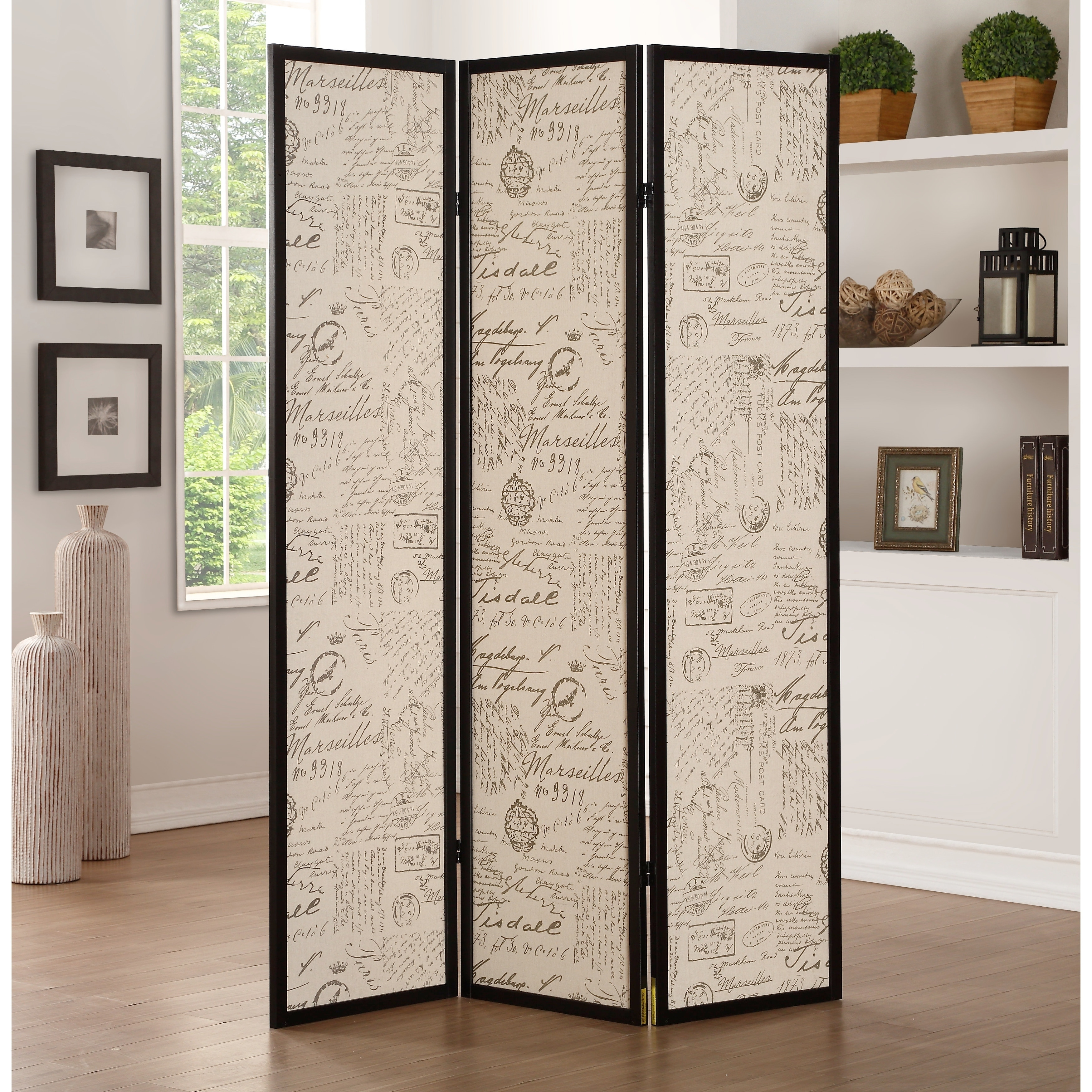 Shop acme zita room divider in black free shipping today overstock 19312983