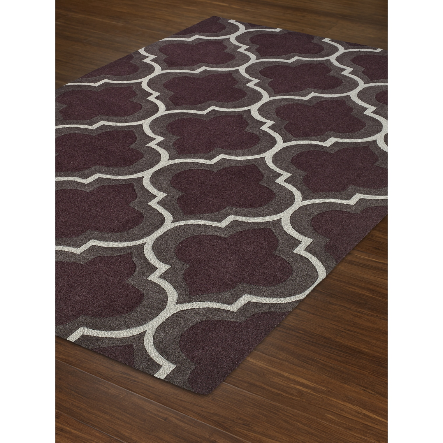 Addison Optics Moroccan Trellis Eggplant White Area Rug On Free Shipping Today 19382423