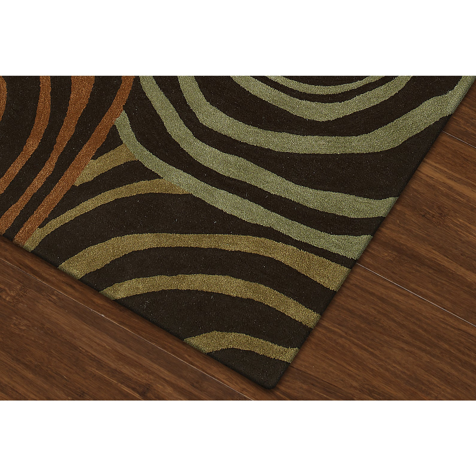 Addison Rugs Zenith Brown/ Orange Geometric Area Rug (5\' x 7\'6 ...