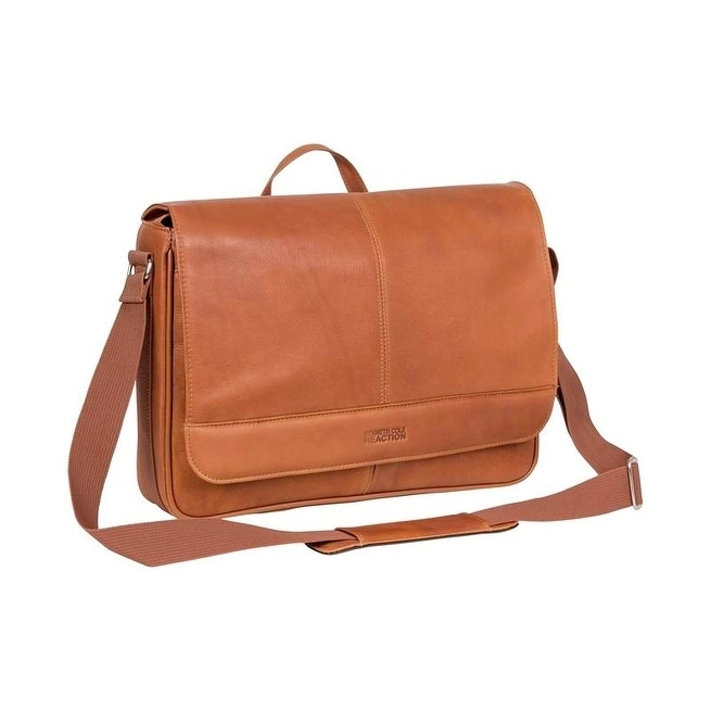 1d47c75f3 Shop Kenneth Cole Reaction 'Risky Business' Colombian Leather Slim Flapover Crossbody  Messenger Bag - Free Shipping Today - Overstock - 19386755
