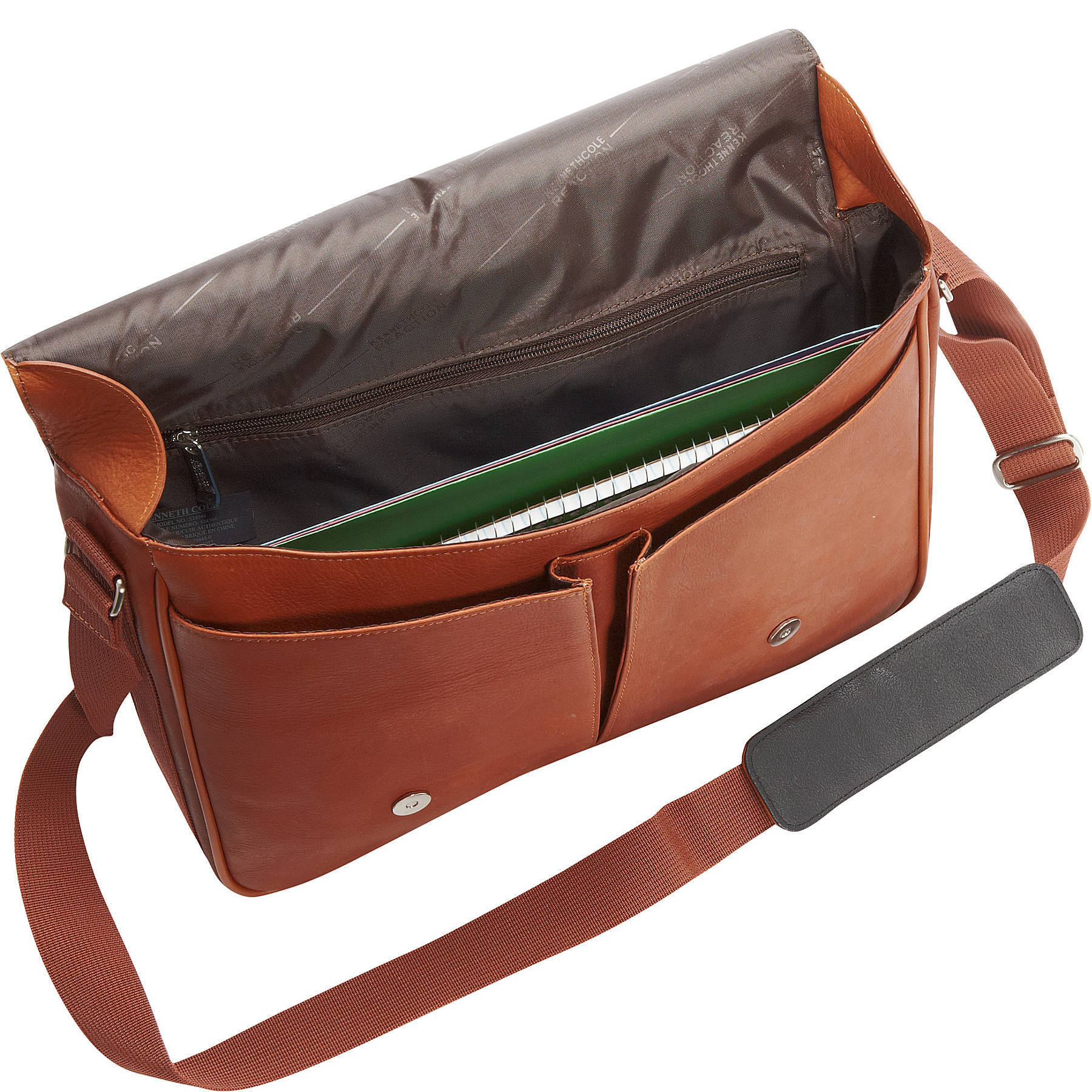 Shop Kenneth Cole Reaction  Risky Business  Colombian Leather Slim Flapover  Crossbody Messenger Bag - Free Shipping Today - Overstock - 19386755 3fde9f8d75219