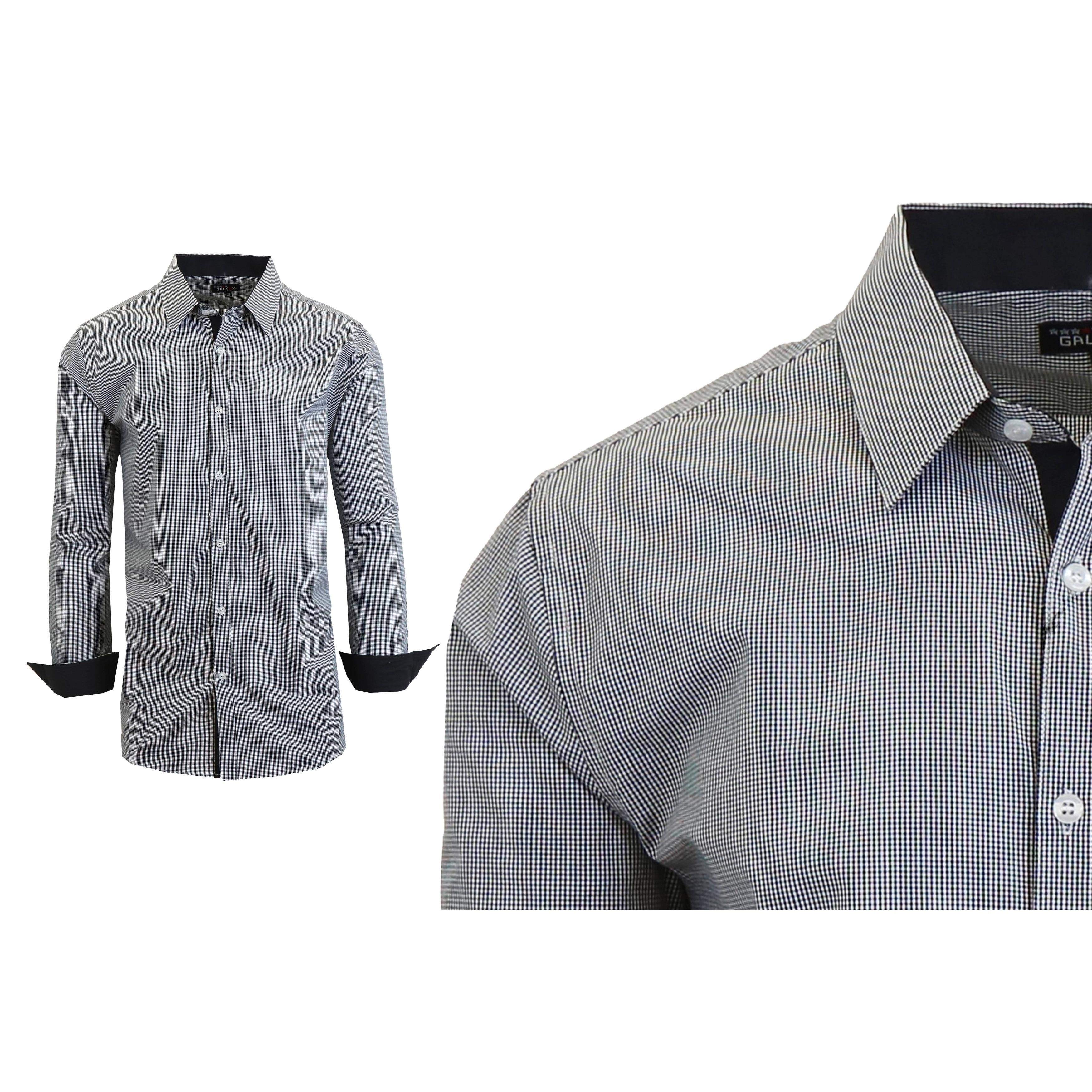 fa3dae360 Shop Galaxy By Harvic Men's Long Sleeve Plaid Button Down Dress ...
