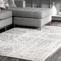 Porch & Den Williamsburg Montrose Vintage Distressed Ring Grey Rug (7'6 x 9'6)