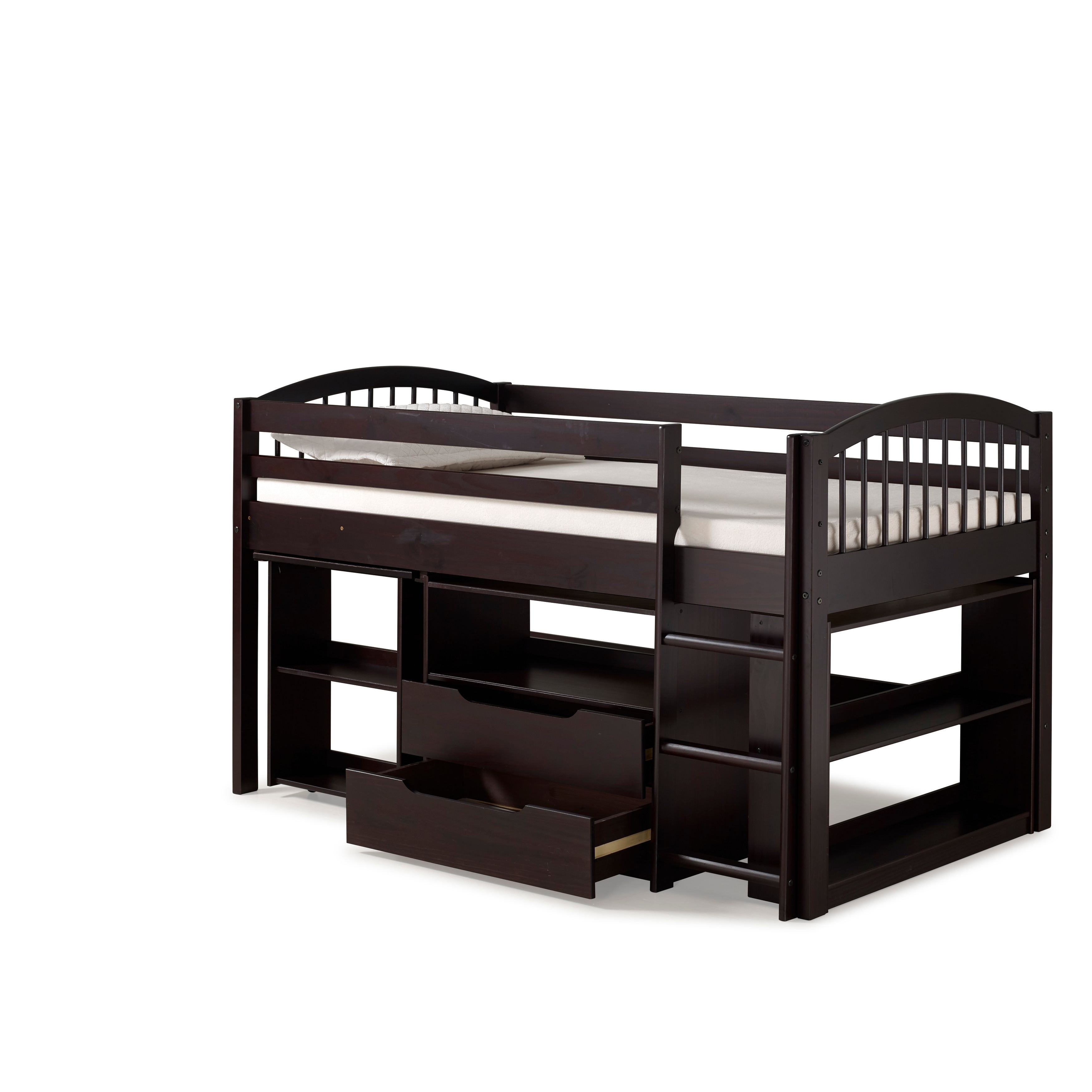 Fabulous Addison Junior Low Loft Bed With Storage Drawers Desk And Bookshelf Solid Wood Download Free Architecture Designs Jebrpmadebymaigaardcom