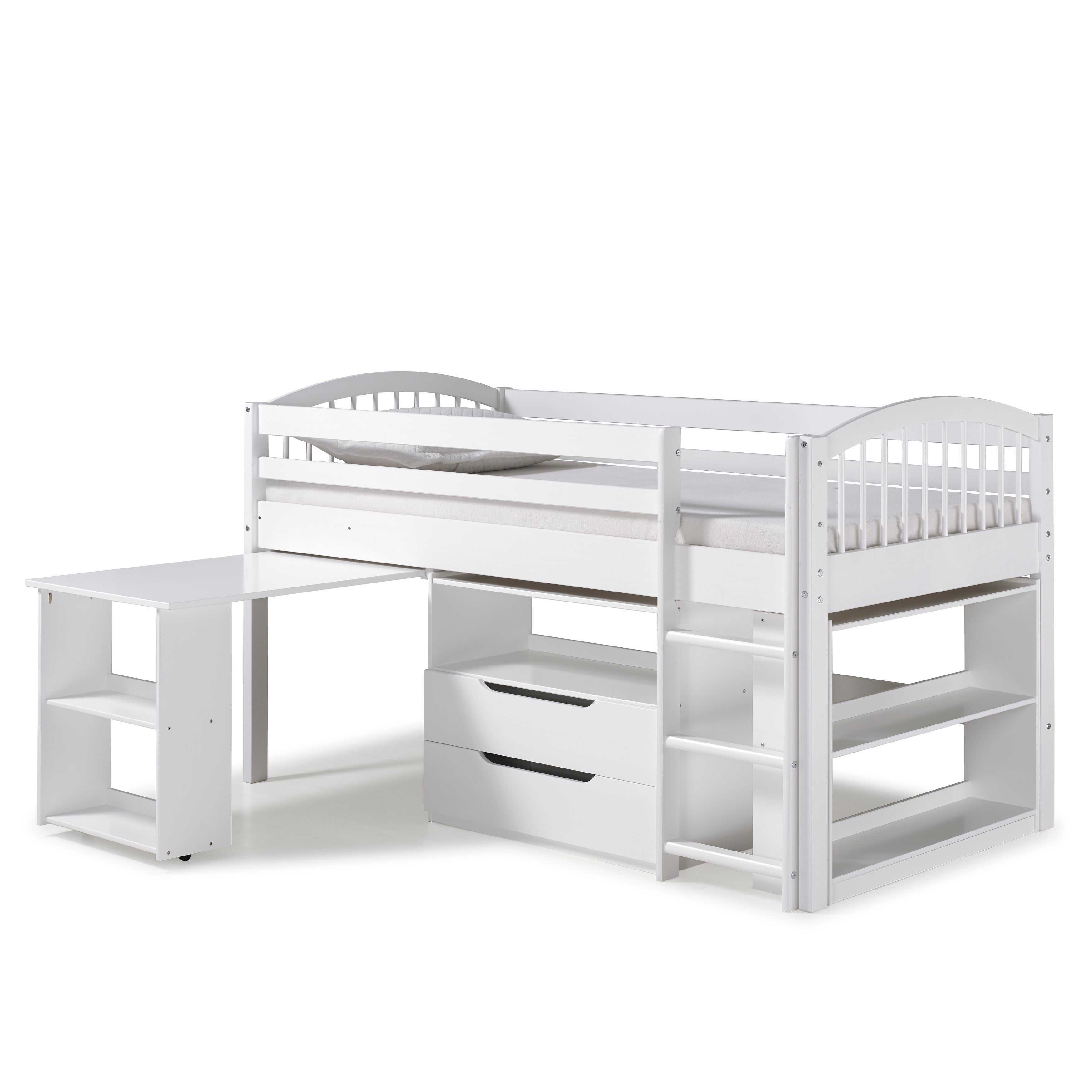 Shop Addison Junior Low Loft Bed With Storage Drawers Desk And