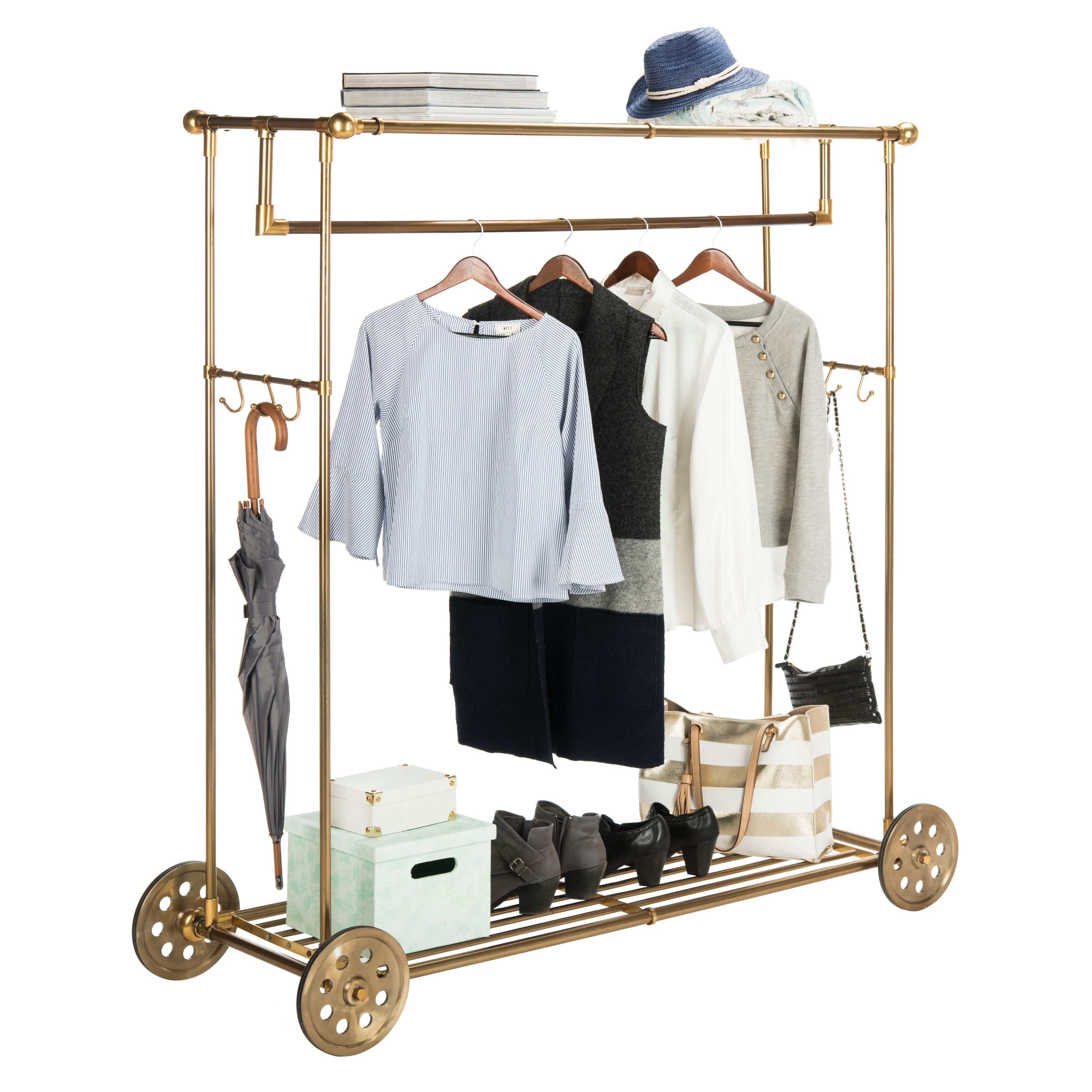 luggage double metal rack rail z rolling guides garment clothes finnhomy find shopping get adjustable quotations hanging with cheap shoe