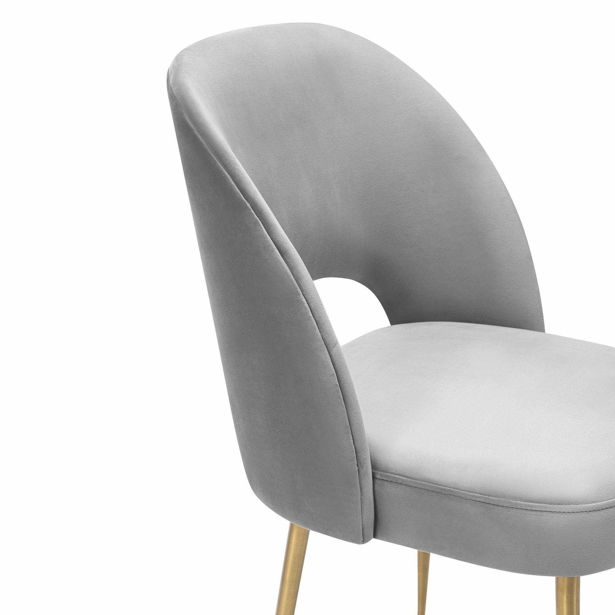 Swell Light Grey Velvet Chair Free Shipping Today 19398265