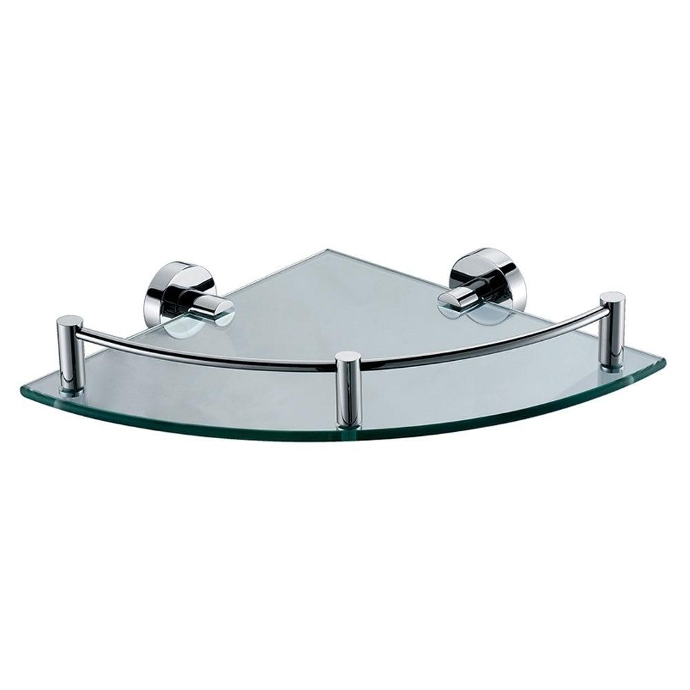 ALFI brand AB9546 Polished Chrome Corner Mounted Glass Shower Shelf ...