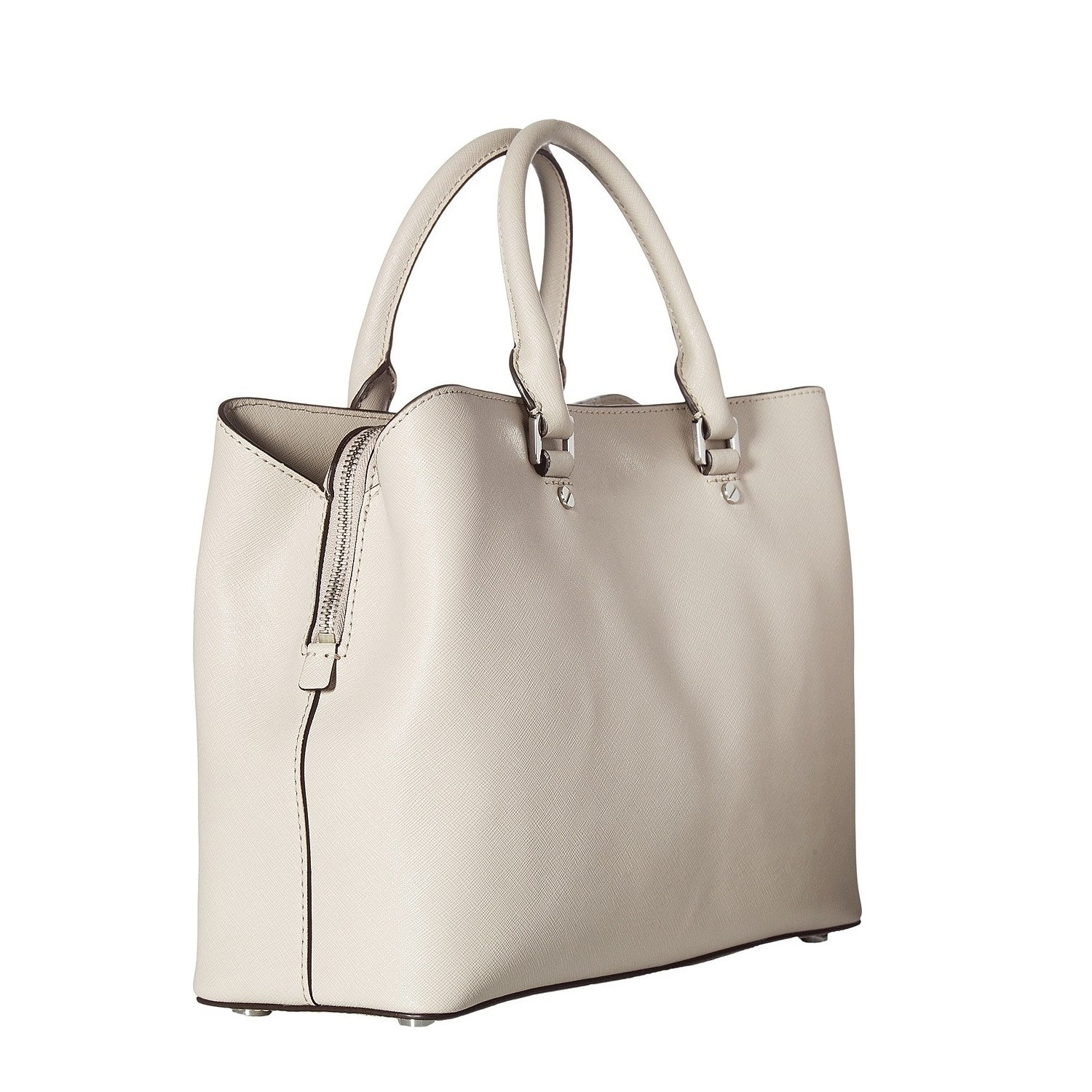 8943403b4217 Shop Michael Kors Savannah Large Pearl Grey Leather Satchel Handbag - Free  Shipping Today - Overstock - 19398798