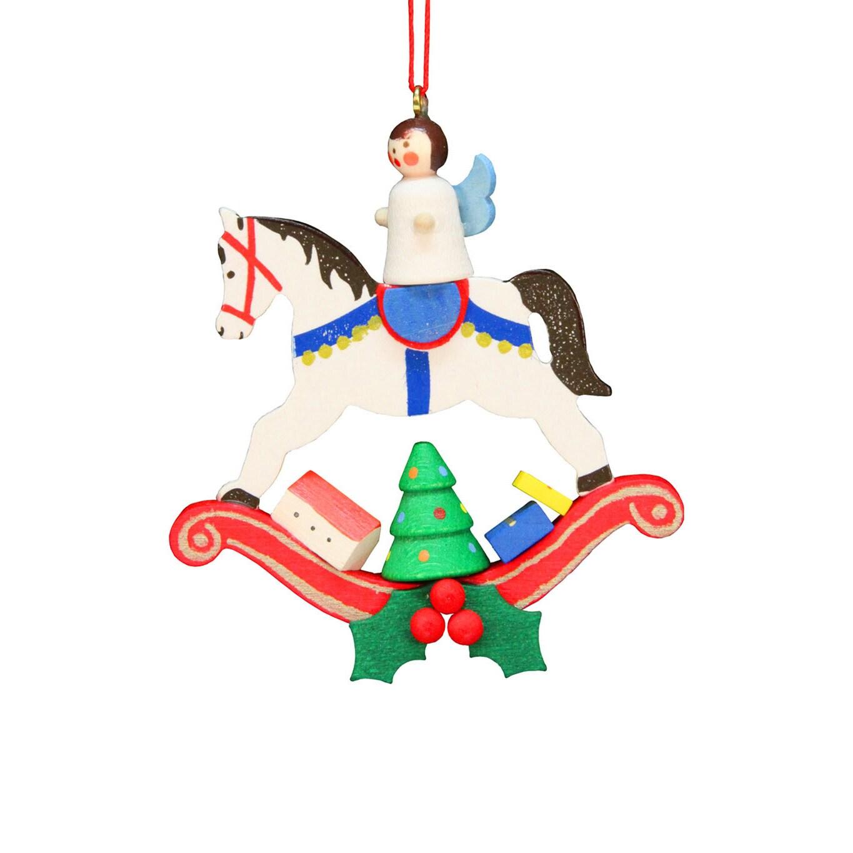 Christian Ulbricht Holiday Christmas Home Angel On Rocking Horse ...