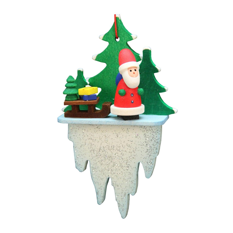 Christian Ulbricht Holiday Christmas Home Decor Santa On Icicle ...